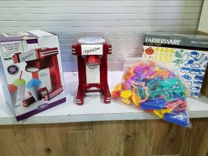New Cookie Cutters and Snowcone Machine