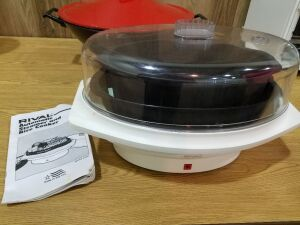 Electric Wok and Steamer/Rice Cooker