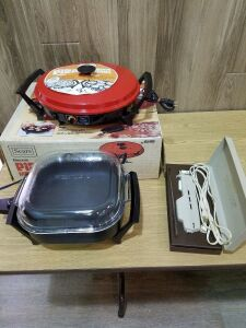 Electric Skillet/ Pizza Maker/ Electric Knife