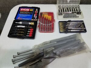 Drill set/3 Sm. Screw Driver Sets/Gutter Nails/