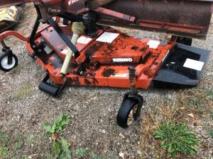 Rhino 72 inch finish mower. Missing pto shaft end.