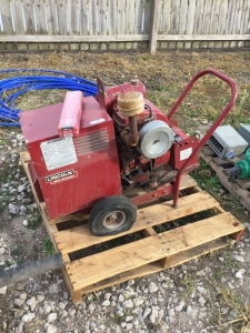 Portable Lincoln welder. With Kohler gasoline engine. Electric start.