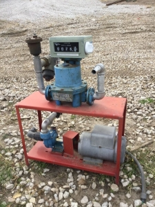 Baldor 5 hp 230v motor, pump and meter.