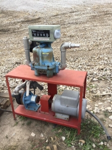 Baldor 5 hp motor and pump with gauge
