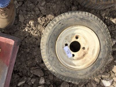 4 bolt Trailer tire. 8 inch.