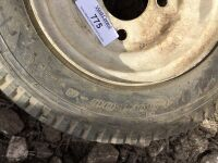 4 bolt Trailer tire. 8 inch. - 2