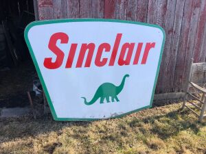 Sinclair sign  Porcelain 2 sided. 5' x 7'