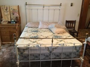 100 year old brass full sized bed