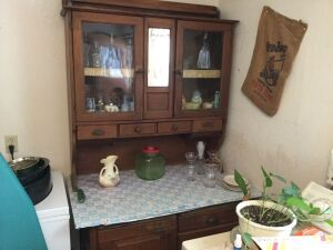 Hoosier style two piece cabinet 28x44x77 No Contents!