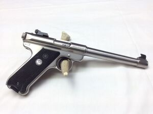 "Ruger Mark II Stainless 6 7/8"" heavy tapered barrel 22 Auto Target 223-95837 Serial Number"