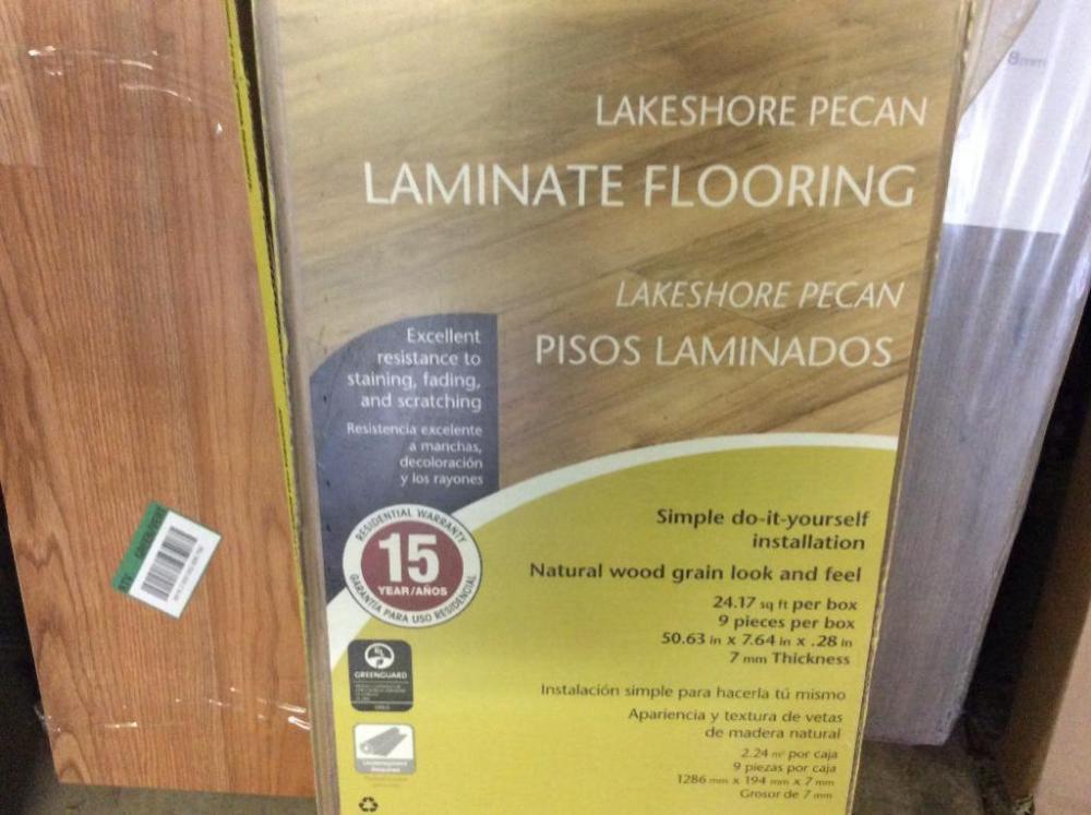 5 Boxes Lakeshore Pecan Flooring - Current price: $50