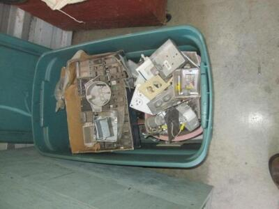 Assorted electrical pieces, breaker plates and wiring