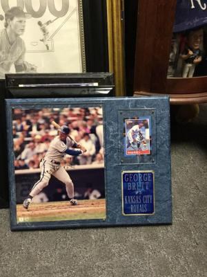 George Brett first base baseball cards signed