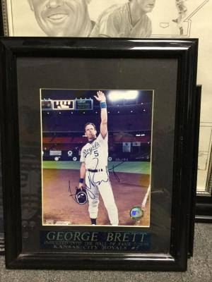 "George Brett, autographed, 14"" x 16"", Hall of Fame induction"