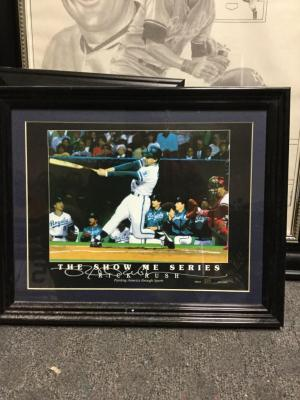 "George Brett, limited painting, print 315 out of 5000. 16"" x 13"""