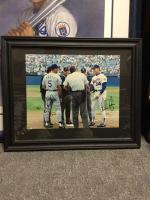 "George Brett and Nolan Ryan, 22"" x 70"", autographed"