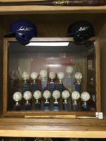 Frank White cabinet with Signed balls for gold gloves and All-Star games.