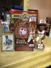 Frank White bobblehead in baseball card.