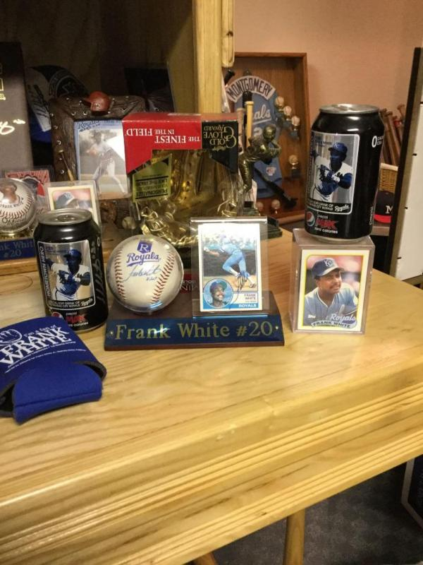 Frank White Complete Career Baseball Card Collection Coke Cans In