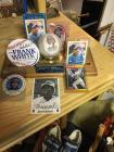 Frank White signed baseball and baseball cards