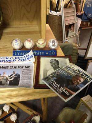 Frank White four autographed baseballs, book good as gold photo.