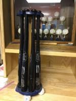 "Stand with eight autographed bats. 29"" Willie Wilson"