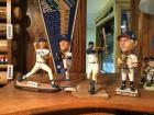 Zack Greinke, Bret Saberhagan, Mike Sweeney, Mike Moustakas, figures